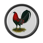 Big Red Rooster Large Wall Clock