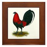 Big Red Rooster Framed Tile