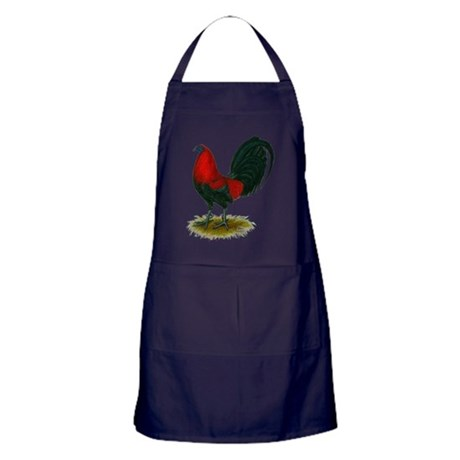 Big Red Rooster Apron (dark)