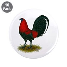 """Big Red Rooster 3.5"""" Button (10 pack)"""