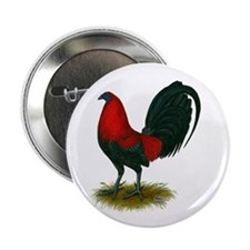 "Big Red Rooster 2.25"" Button"