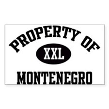Property of Montenegro Rectangle Decal
