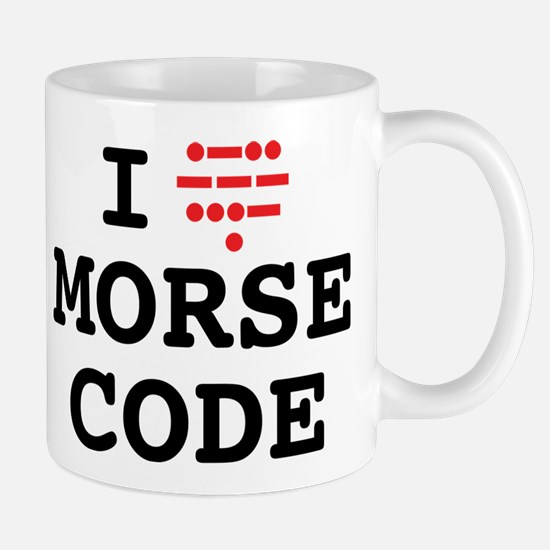 I Love Morse Code Mugs