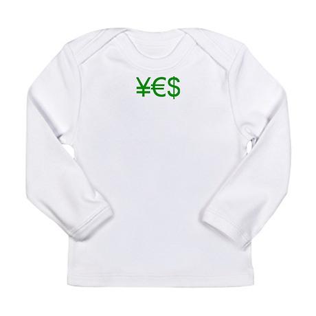 Yen Euro Dollar Long Sleeve Infant T-Shirt