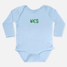 Yen Euro Dollar Long Sleeve Infant Bodysuit