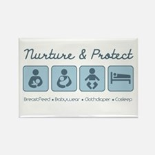 Nurture & Protect Rectangle Magnet