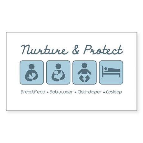 Nurture & Protect Sticker (Rectangle)