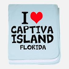 I Love Captiva Island baby blanket