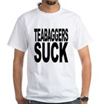 Teabaggers Suck White T-Shirt
