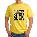 Teabaggers Suck Yellow T-Shirt