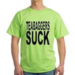 Teabaggers Suck Green T-Shirt