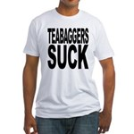 Teabaggers Suck Fitted T-Shirt