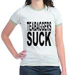 Teabaggers Suck Jr. Ringer T-Shirt