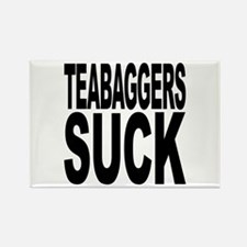 Teabaggers Suck Rectangle Magnet