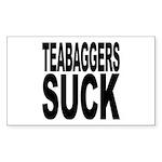 Teabaggers Suck Sticker (Rectangle)