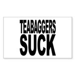 Teabaggers Suck Sticker (Rectangle)
