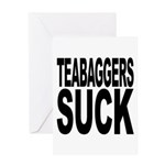 Teabaggers Suck Greeting Card