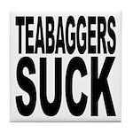 Teabaggers Suck Tile Coaster