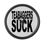 Teabaggers Suck Large Wall Clock