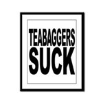 Teabaggers Suck Framed Panel Print