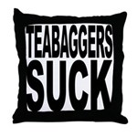 Teabaggers Suck Throw Pillow