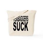 Teabaggers Suck Tote Bag