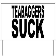 Teabaggers Suck Yard Sign