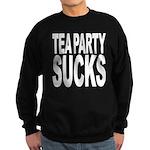 Tea Party Sucks Sweatshirt (dark)