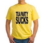 Tea Party Sucks Yellow T-Shirt
