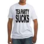 Tea Party Sucks Fitted T-Shirt