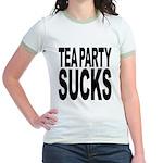 Tea Party Sucks Jr. Ringer T-Shirt
