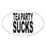 Tea Party Sucks Sticker (Oval 10 pk)