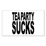 Tea Party Sucks Sticker (Rectangle)