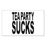 Tea Party Sucks Sticker (Rectangle 10 pk)