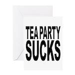 Tea Party Sucks Greeting Card