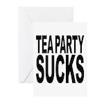 Tea Party Sucks Greeting Cards (Pk of 20)