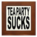 Tea Party Sucks Framed Tile