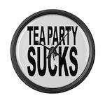 Tea Party Sucks Large Wall Clock