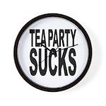Tea Party Sucks Wall Clock