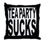 Tea Party Sucks Throw Pillow