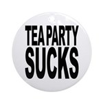 Tea Party Sucks Ornament (Round)