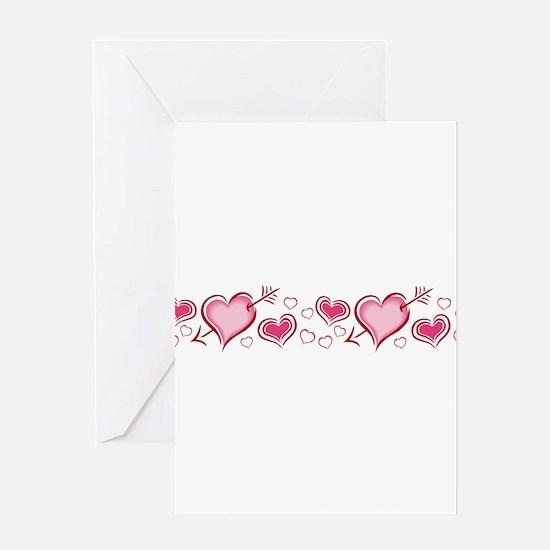 HEARTS {5} Greeting Card