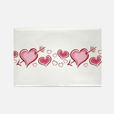 HEARTS {5} Rectangle Magnet