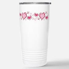HEARTS {5} Stainless Steel Travel Mug