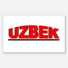 """Uzbek"" Rectangle Decal"