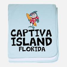 Captiva Island, Florida baby blanket