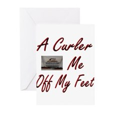 A Curler Swept Me Off My Feet Greeting Cards (Pack