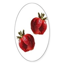 Strawberries Oval Decal
