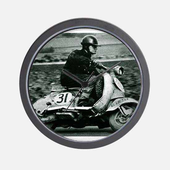 Scooter Race Wall Clock