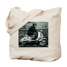 Scooter Race Tote Bag